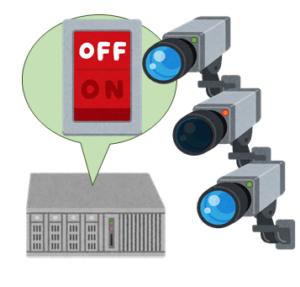 レコーダーの電源OFFか、カメラの通信断か