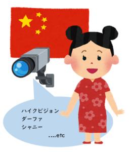 中国の防犯カメラ製品