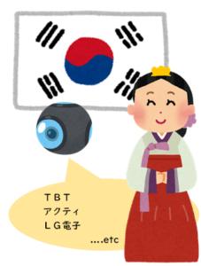 韓国の防犯カメラ製品