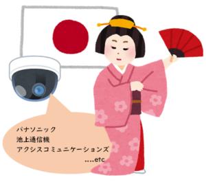 日本の防犯カメラ製品